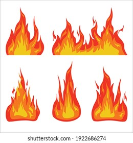 Red and orange fire flame. hot flaming element can be use to make poster