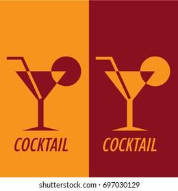 red orange simple design shape cocktail logo
