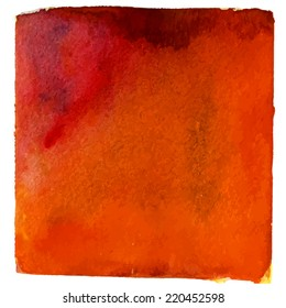 Red orange watercolor background