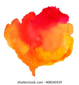 Red and orange watercolor vector background.