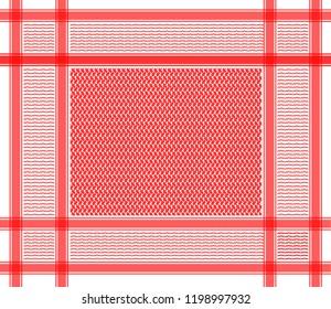 red oriental arabic scarf pattern