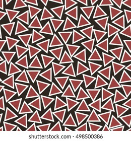 red outlined triangles seamless pattern