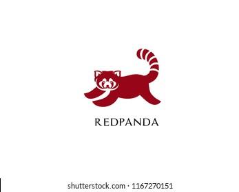 red panda logo icon designs