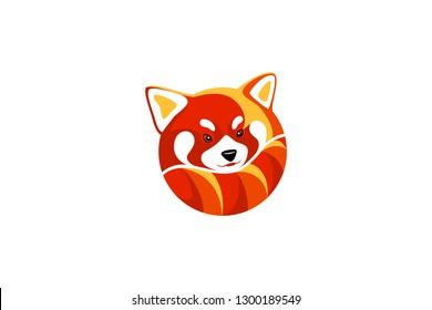 Red Panda Round Logo Design