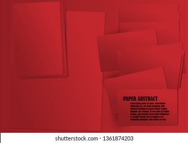 Red paper art abstractbackground