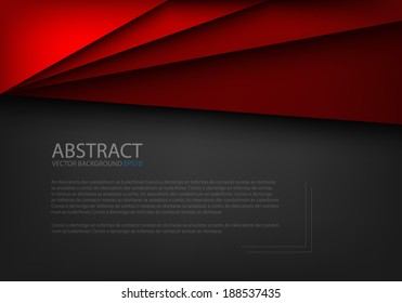 Red paper background origami on overlap black texture and pattern dimension grey vector illustration message board for text and message design modern website