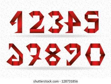 Red paper numbers