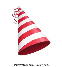 Red Party Hat Isolated On White Background Accessory Symbol Of The Holiday Birthday