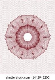 Red passport rosette. Vector Illustration. Detailed.