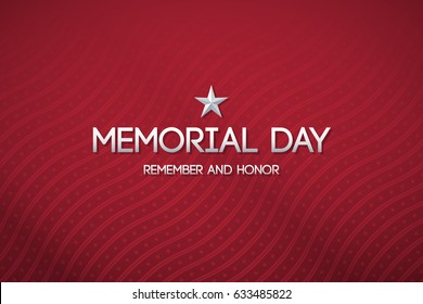 Red patriotic background for Memorial day