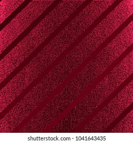 Red pattern. Abstract crimson background. Maroon vector illustration. Scarlet glitter stripes. Dark red foil texture. Luxury pattern.