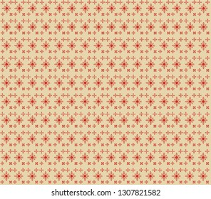 red pattern flowers