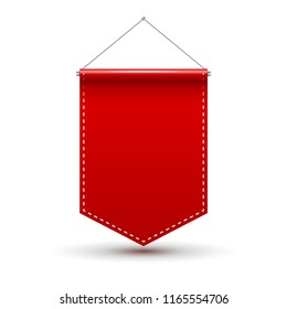 red pennant flag award banner blank stock vector royalty free