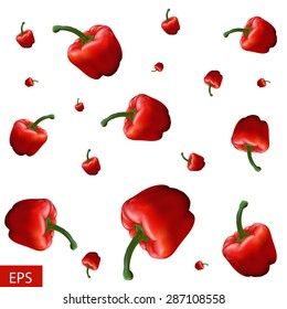 Red pepper background