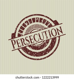 Red Persecution distressed grunge stamp