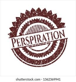 Red Perspiration grunge stamp