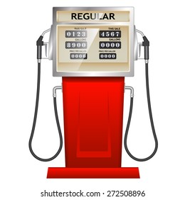 red petrol station in USA