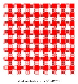 red picnic checkered cloth - vector - eps 10