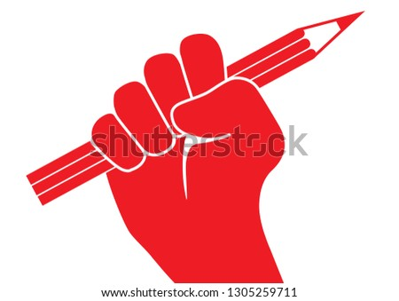 3d6ac096e02a Red Pictograph Showing Raised Fist Holding Stock-Vektorgrafik ...