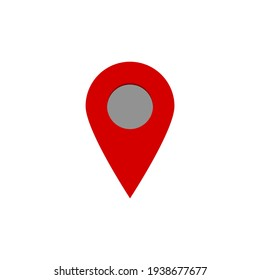 red pin point . location icon isolated on white background. vector illustration