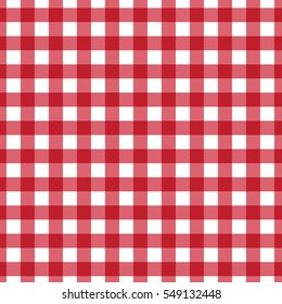 red plaid checkered gingham pattern