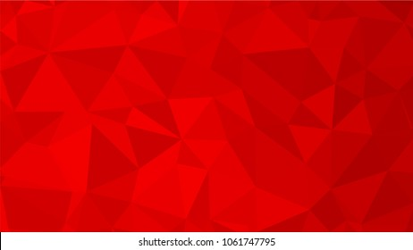Red polygonal illustration background. Low poly style