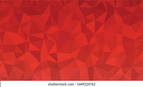 Red polygonal illustration background. Low poly style.