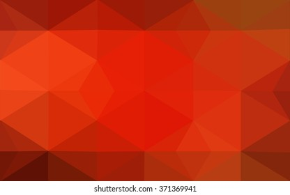 Red polygonal illustration, which consist of triangles. Geometric background in Origami style with gradient. Triangular design for your business.