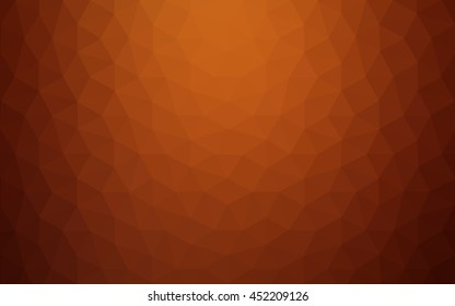 Red polygonal illustration, which consist of triangles.