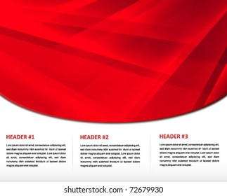 red presentation print and web template