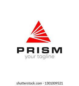 Red Prism Triangle A Logo Design Vector