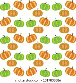 The Red Pumpkin Background Pattern