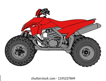 red quad bike vector