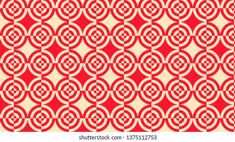 Red Quarter Circles Pattern Background Graphic