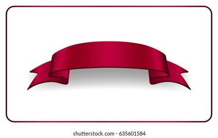 vinous ribbon banner satin blank design stock illustration