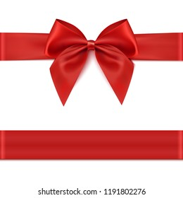Red ribbon. Gift decoration - for stock