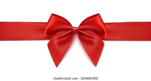 Red ribbon. Gift decoration - vector