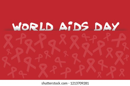 Red ribbon ribbons Stop aids hiv World aids day Happy pride day happy spirit day Banner card purple friday thursday Vector eps symbol icon logo december Sign safety first gay rainbow medical logo homo