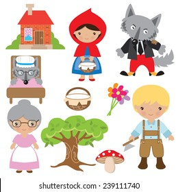 Wolf Red Riding Hood Images Stock Photos Vectors Shutterstock
