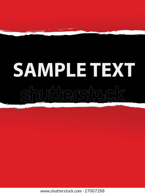 red ripped paper in vector