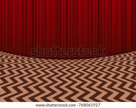 Red room Horisontal background
