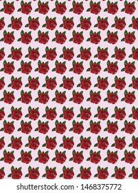 red rose desen vector illustration