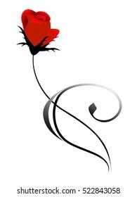Red rose design element.