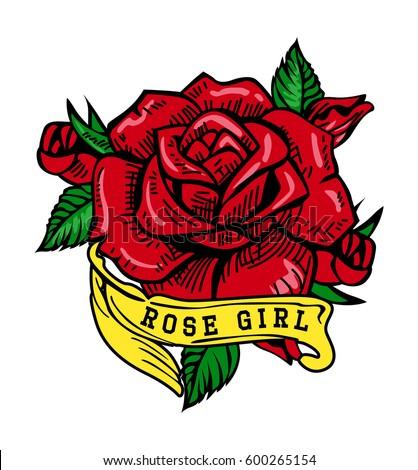 Red Rose Vector Art Stock Vector Royalty Free 600265154 Shutterstock