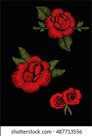 red roses embroidery embroidery for fashion