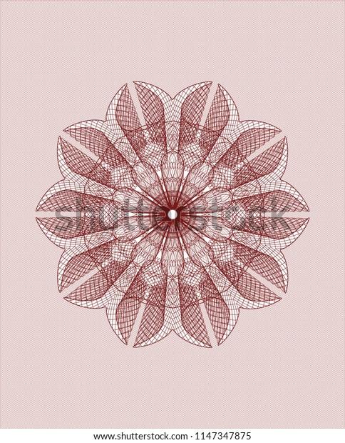 Red rosette (money style emblem)