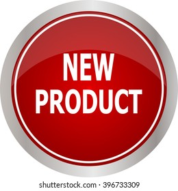 Red round new product button