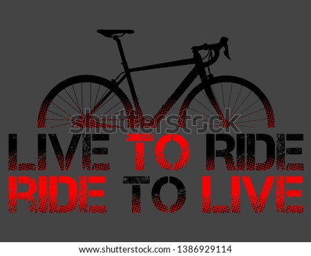 Red Route Bike Bycicle Live Ride Stock Vector (Royalty Free