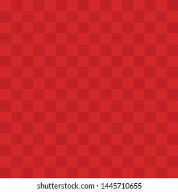 Red Rubber Kickball Dodgeball Checkered Pattern Texture Vector Icon Illustration