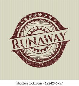 Red Runaway rubber grunge texture seal